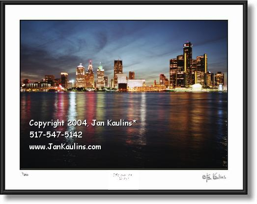 Click on this image to view DETROIT SKYLINE photo Detroit Skyline GALLERY.