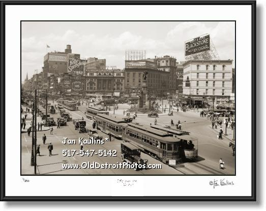 Click on this image to view VINTAGE Detroit OLD Detroit Photo Print Gallery.