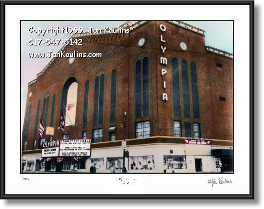 Click on this image to see an enlarged view of OLYMPIA STADIUM  Detroit picture photo print.