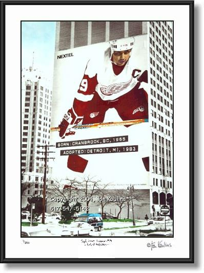 Steve Yzerman mural photo art YZERMAN mural