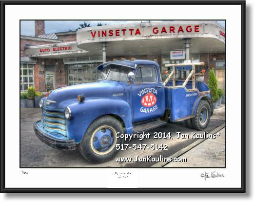 Click on this image to see an enlarged view of VINSETTA GARAGE photo picture old truck print.