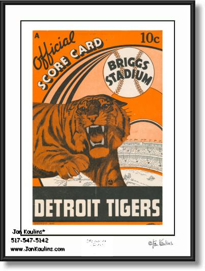 Click on this image to see an enlarged view of BRIGGS STADIUM 1940 Scorecard Cover print.