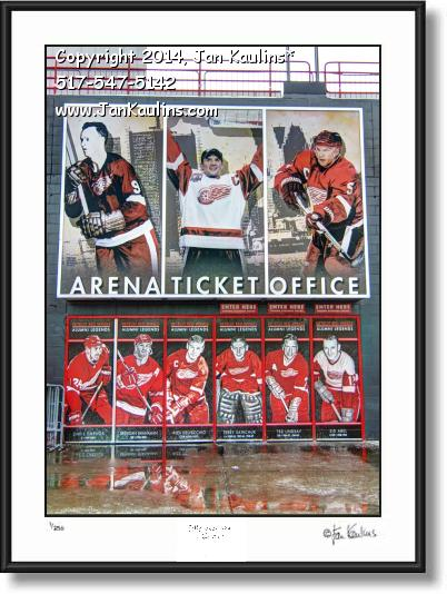 Click on this image to see an enlarged view of JOE LOUIS ARENA Tickets picture photo print.