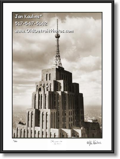 Click on this image to see an enlarged view of PENOBSCOTT Bldg Penobscott Detroit photo print.