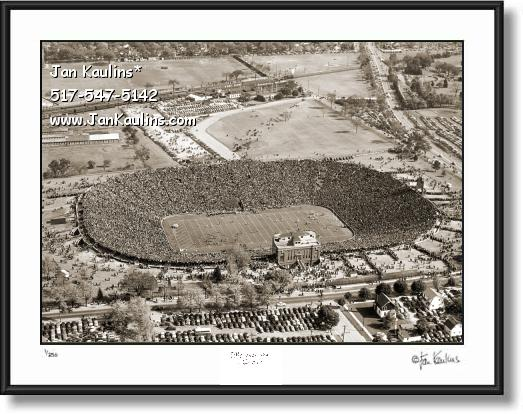 Click on this image to see an enlarged view of MICHIGAN STADIUM 1946 Historical photo print.