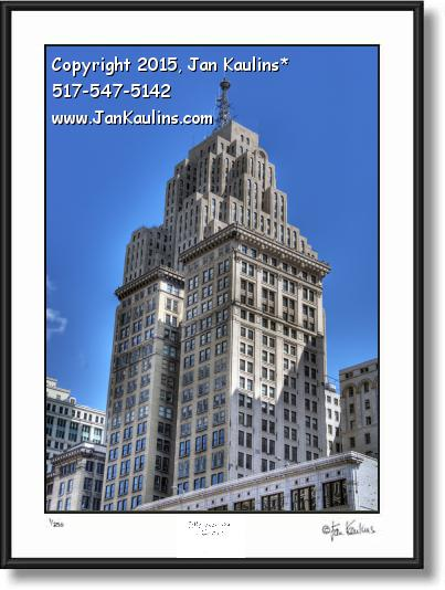 Click on this image to see an enlarged view of PENOBSCOTT BLDG DETROIT photo art print.