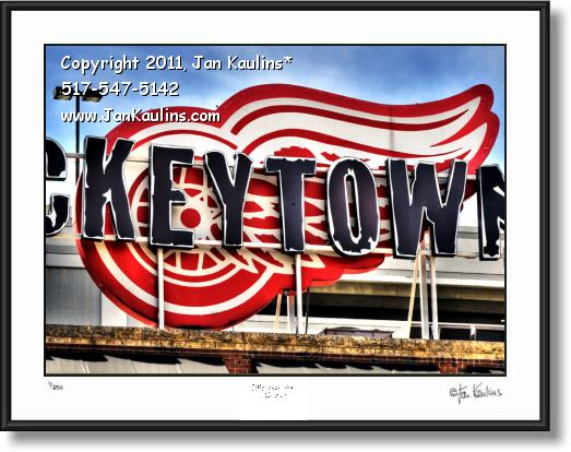 Click on this image to see an enlarged view of HOCKEYTOWN DETROIT RED WINGS photo print.