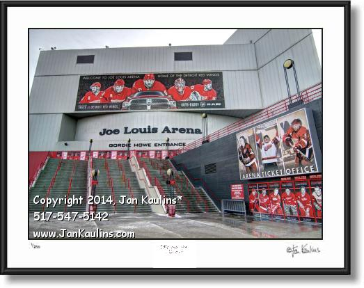 Click on this image to see an enlarged view of JOE LOUIS ARENA photo picture JOE LOUIS arena.