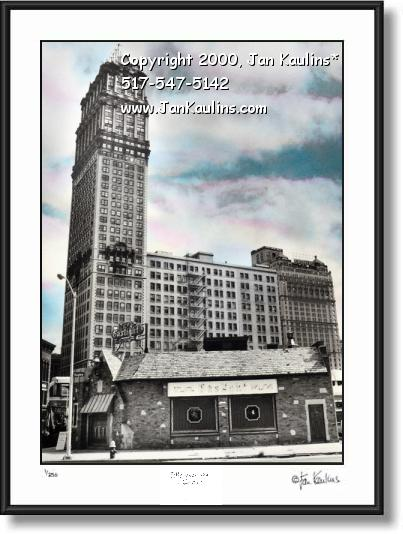 Click on this image to see an enlarged view of BOOK TOWER Detroit photo BOOK TOWER photo.