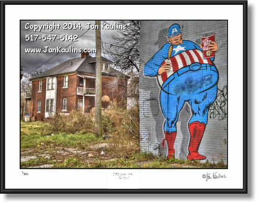 Click on this image to see an enlarged view of DETROIT GRAFFITI ART photo print Detroit #1.