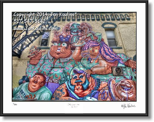 Click on this image to see an enlarged view of DETROIT GRAFFITI ART photo print Detroit #3.