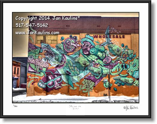 Click on this image to see an enlarged view of DETROIT GRAFFITI ART photo print Detroit #4.