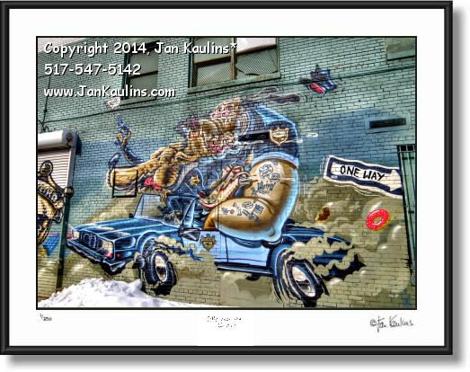 Click on this image to see an enlarged view of DETROIT GRAFFITI ART photo print Detroit #6.