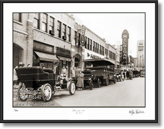 Vintage Old Ann Arbor photo print STATE ST. 1907