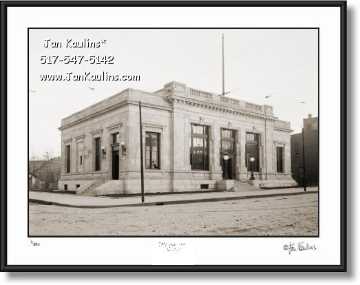 Old Vintage Ann Arbor POST OFFICE 1915 photo