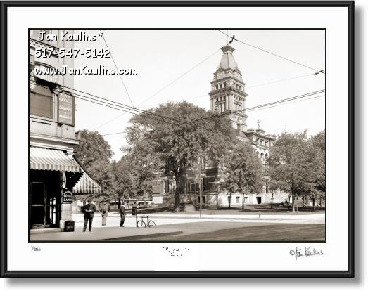 Vintage Old Ann Arbor OLD COURTHOUSE 1910