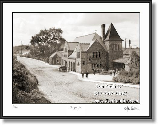Vintage Ann Arbor Michigan Central Depot 1904