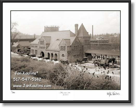 Click on this image to see an enlarged view of Old Ann Arbor MICHIGAN CENTRAL DEPOT 1903.