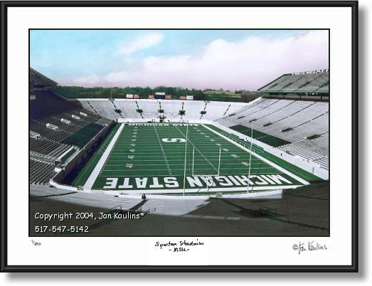 Empty Spartan Stadium MSU - photo picture