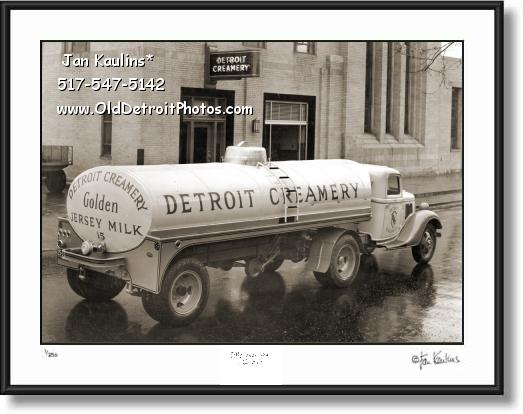 Click on this image to see an enlarged view of DETROIT CREAMERY TRUCK 1935 photo print.