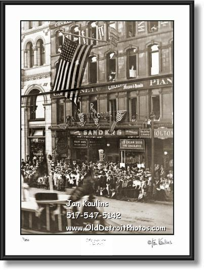SANDER'S Detroit Woodward Ave. 1920's photo