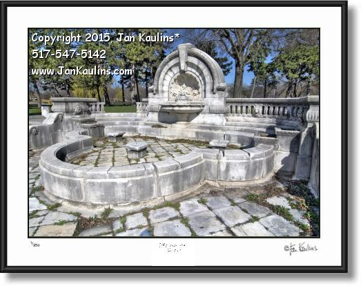 MERRILL FOUNTAIN Palmer Park photo art print
