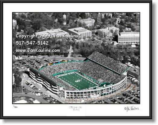 Spartan Stadium aerial photo MSU Spartan Stadium