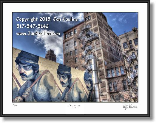 Click on this image to see an enlarged view of ARYZ MURAL DETROIT Aryz  Detroit photo print.