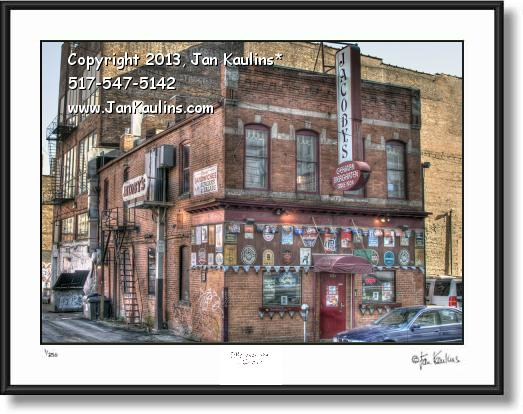 Click on this image to see an enlarged view of JACOBY'S DETROIT Jacoby's  photo picture print.