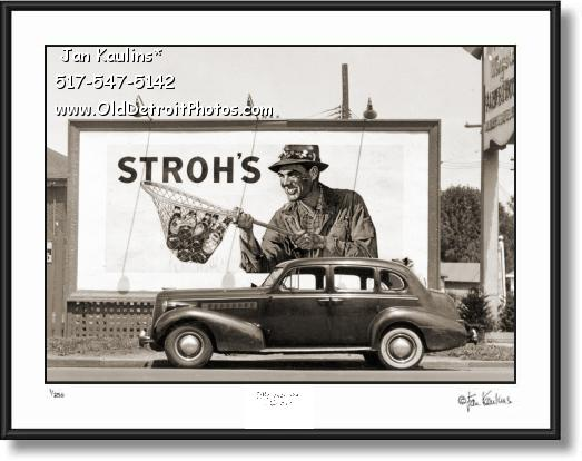 Old Stroh's Beer Ad Billboard 1939 photo print