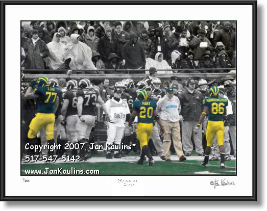Click on this image to see an enlarged view of Lloyd Carr LAST FINAL GAME photo picture print.