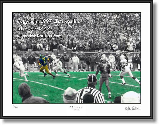 Click on this image to see an enlarged view of Charles Woodson photo Michigan Stadium photo.