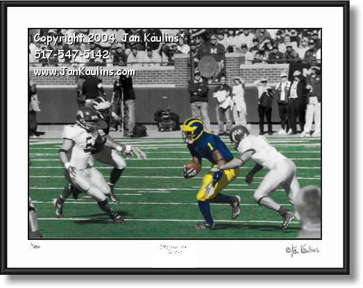 Click on this image to see an enlarged view of Braylon Edwards UofM photo picture MICHIGAN.
