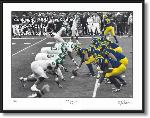 Click on this image to see an enlarged view of UofM vs MSU photo picture print UofM vs MSU.