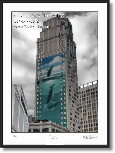WYLAND WHALES Broderick Tower Detroit photo