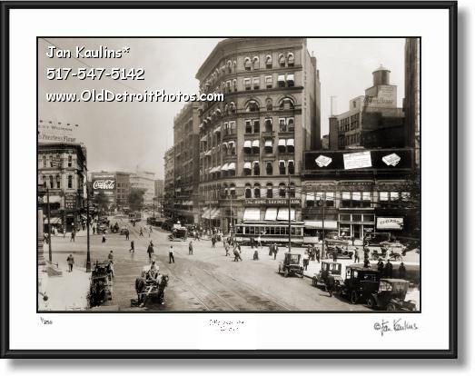 GRISWOLD at MICHIGAN AVE Detroit photo 1915