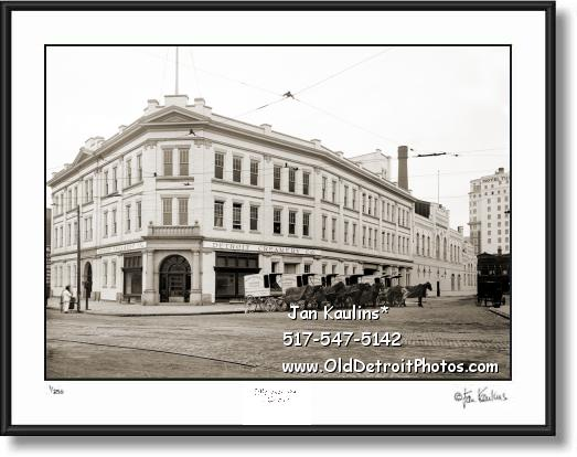 Click on this image to see an enlarged view of DETROIT CREAMERY 1908 photo picture print.