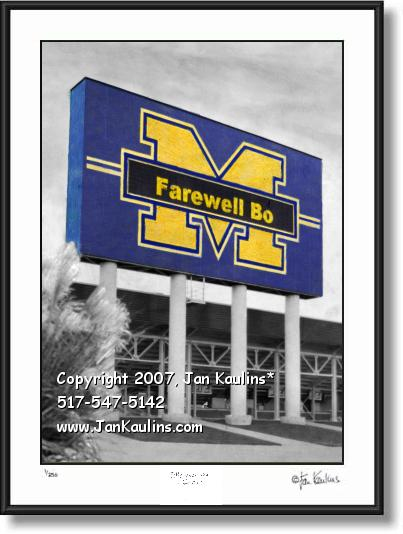 Farewell Bo Schembechler UofM picture photo