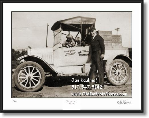 Click on this image to see an enlarged view of DETROIT CREAMERY DELIVERY Truck photo print.
