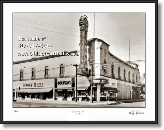 Click on this image to see an enlarged view of GRANDE BALLROOM Detroit photo print art picture.