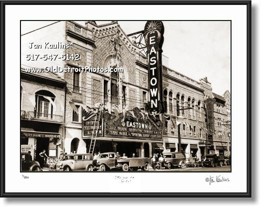 Click on this image to see an enlarged view of EASTOWN THEATRE DETROIT 1931 photo print.
