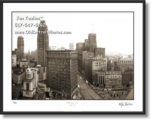 VINTAGE DOWNTOWN DETROIT photo print