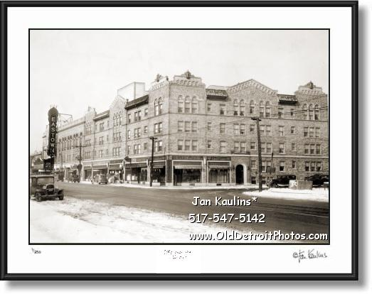 Click on this image to see an enlarged view of EASTOWN THEATRE DETROIT 1936 photo print.