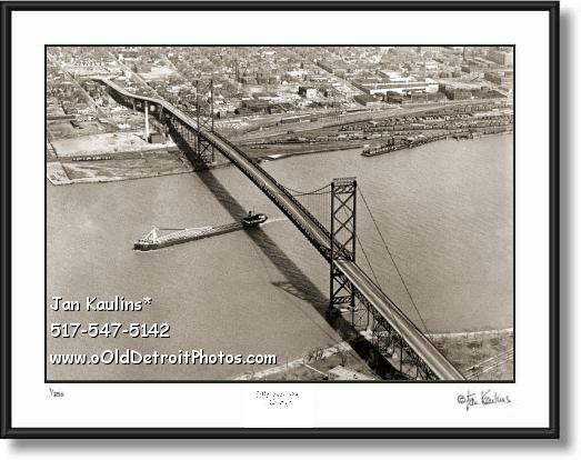 Click on this image to see an enlarged view of AMBASSADOR BRIDGE Detroit photo picture print.