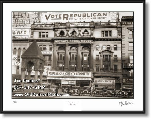 DETROIT OPERA HOUSE 1935 photo picture print