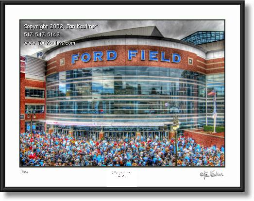 Click on this image to see an enlarged view of FORD FIELD Detroit photo art print for sale.