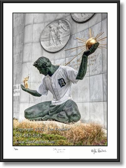 Click on this image to see an enlarged view of SPIRIT OF DETROIT TIGERS photo picture print.