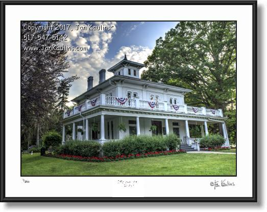 Click on this image to see an enlarged view of GOVERNOR WARNER MANSION Farmington print.