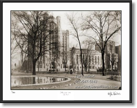 Click on this image to see an enlarged view of Detroit MASONIC TEMPLE photo picture print 1937.