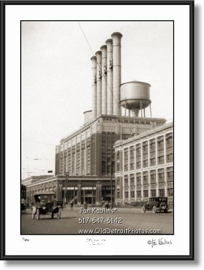 Click on this image to see an enlarged view of FORD HIGHLAND PARK PLANT 1920s photo print.